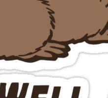 Dammed Beaver Sticker