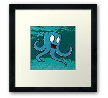 Happy Cube Headed Octopus Framed Print