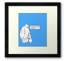 Baymax and Olaf Framed Print