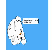 Baymax and Olaf Photographic Print