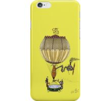 STEAMPUNK HOT AIR BALLOON (Gold) iPhone Case/Skin