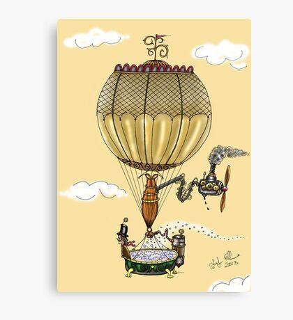 STEAMPUNK HOT AIR BALLOON (Gold) Canvas Print