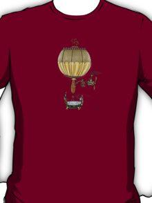 STEAMPUNK HOT AIR BALLOON (Gold) T-Shirt