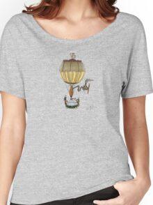 STEAMPUNK HOT AIR BALLOON (Gold) Women's Relaxed Fit T-Shirt