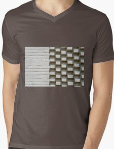Abstract geometric background wall Mens V-Neck T-Shirt