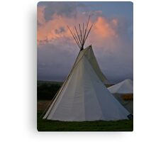 Stormy Teepee A Canvas Print