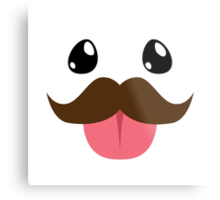 Mustache Poro Metal Print