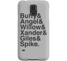 The Scooby Gang Vintage Black Samsung Galaxy Case/Skin