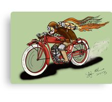 INDIAN MOTORCYCLE STEAMPUNK STYLE Canvas Print