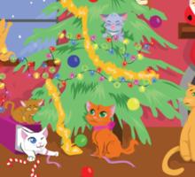 Kittens' First Christmas Sticker