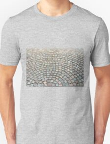 Old cobbled stones road background Unisex T-Shirt