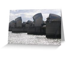 Thames Barriers Greeting Card