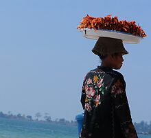 Prawn Seller at Sihanoukville  by JacTaylor