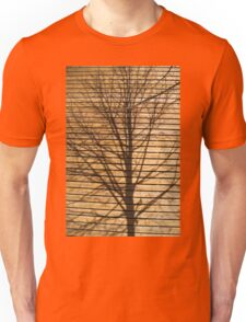 Shadow of a tree on a wall Unisex T-Shirt