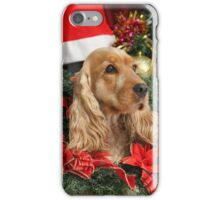 Merry Cocker Christmas iPhone Case/Skin