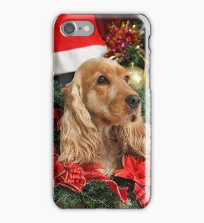 Merry Cocker Christmas iPhone Case/Skin
