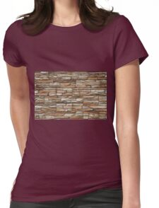Stone stucco wall Womens Fitted T-Shirt