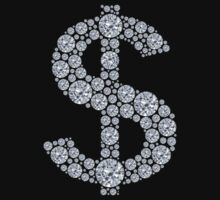 Diamond Dollar Sign Bling by TheShirtYurt