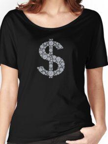 Diamond Dollar Sign Bling Women's Relaxed Fit T-Shirt
