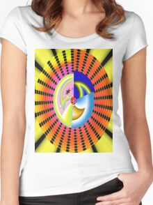Graphic Circle 1950 Women's Fitted Scoop T-Shirt