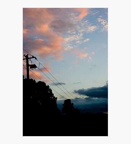Birds On a Wire! Photographic Print