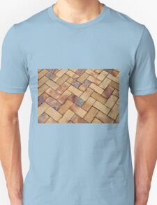 Details of geometric brown stone garden tiles Unisex T-Shirt