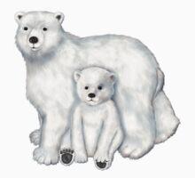 Polar Bear Mom and Cub Kids Clothes