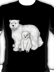 Polar Bear Mom and Cub T-Shirt