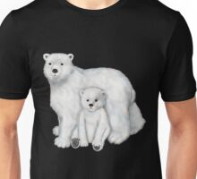 Polar Bear Mom and Cub Unisex T-Shirt