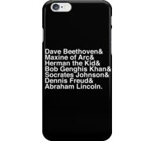 The History Report (Classic White) iPhone Case/Skin