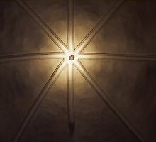 Beautiful lamps on ceiling of a church by Ron Zmiri