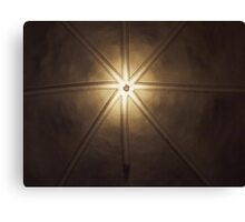 Beautiful lamps on ceiling of a church Canvas Print