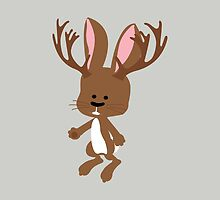 Cute little brown Jackalope by Eggtooth
