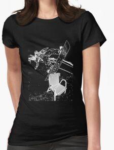 Chair Jib White Womens Fitted T-Shirt
