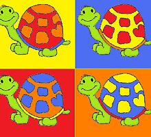 Pop Turtle-Pop Art by trennea