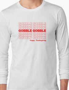 Gobble Gobble Retro Thanksgiving Long Sleeve T-Shirt