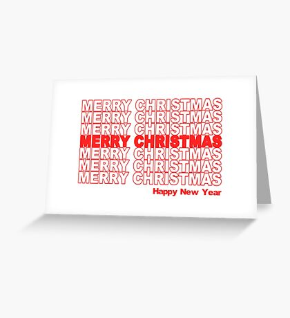 Merry Christmas Retro Holiday Greeting Card