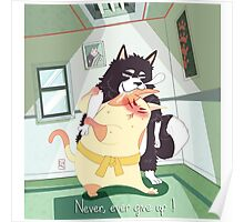 Never, ever give up! Poster