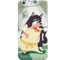 Never, ever give up! iPhone Case/Skin