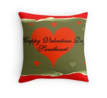 Happy Valentines Day Sweetheart Throw Pillow