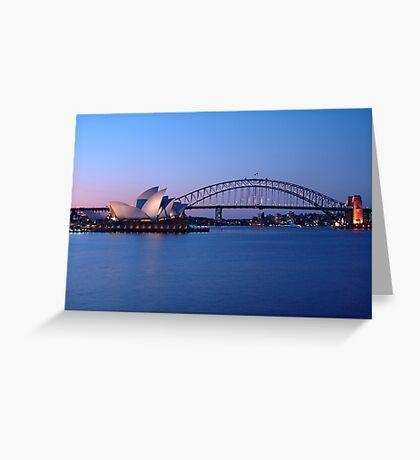 Sydney Icons at Twilight Greeting Card