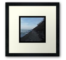 Hillside Beach Framed Print