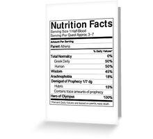 Half-Blood Nutrition Guide (Annabeth) Greeting Card