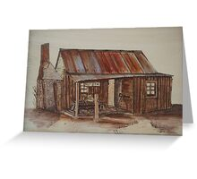 Pyrography Painted: The Old Post Office Homestead Greeting Card