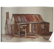 Pyrography Painted: The Old Post Office Homestead Poster