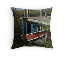 River Worker Throw Pillow