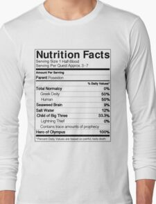 Half-Blood Nutrition Guide (Percy) Long Sleeve T-Shirt