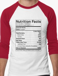 Half-Blood Nutrition Guide (Percy) Men's Baseball ¾ T-Shirt
