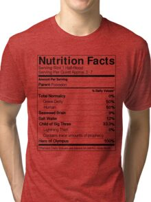 Half-Blood Nutrition Guide (Percy) Tri-blend T-Shirt