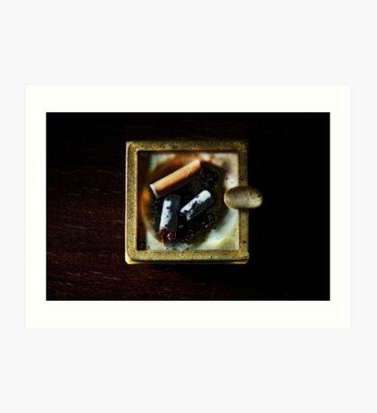 Ashtray with cigarettes stubs Art Print